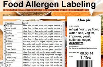 Etiqueta Alergénios